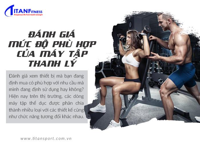 Đánh giá mức độ phù hợp của máy tập thể dục thanh lý