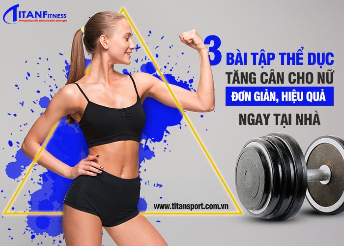 bài tập thể dục tăng cân cho nữ